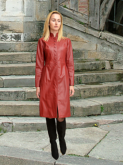 Higgs Leathers NEW! Trinity (ladies fitted Red Leather coats)
